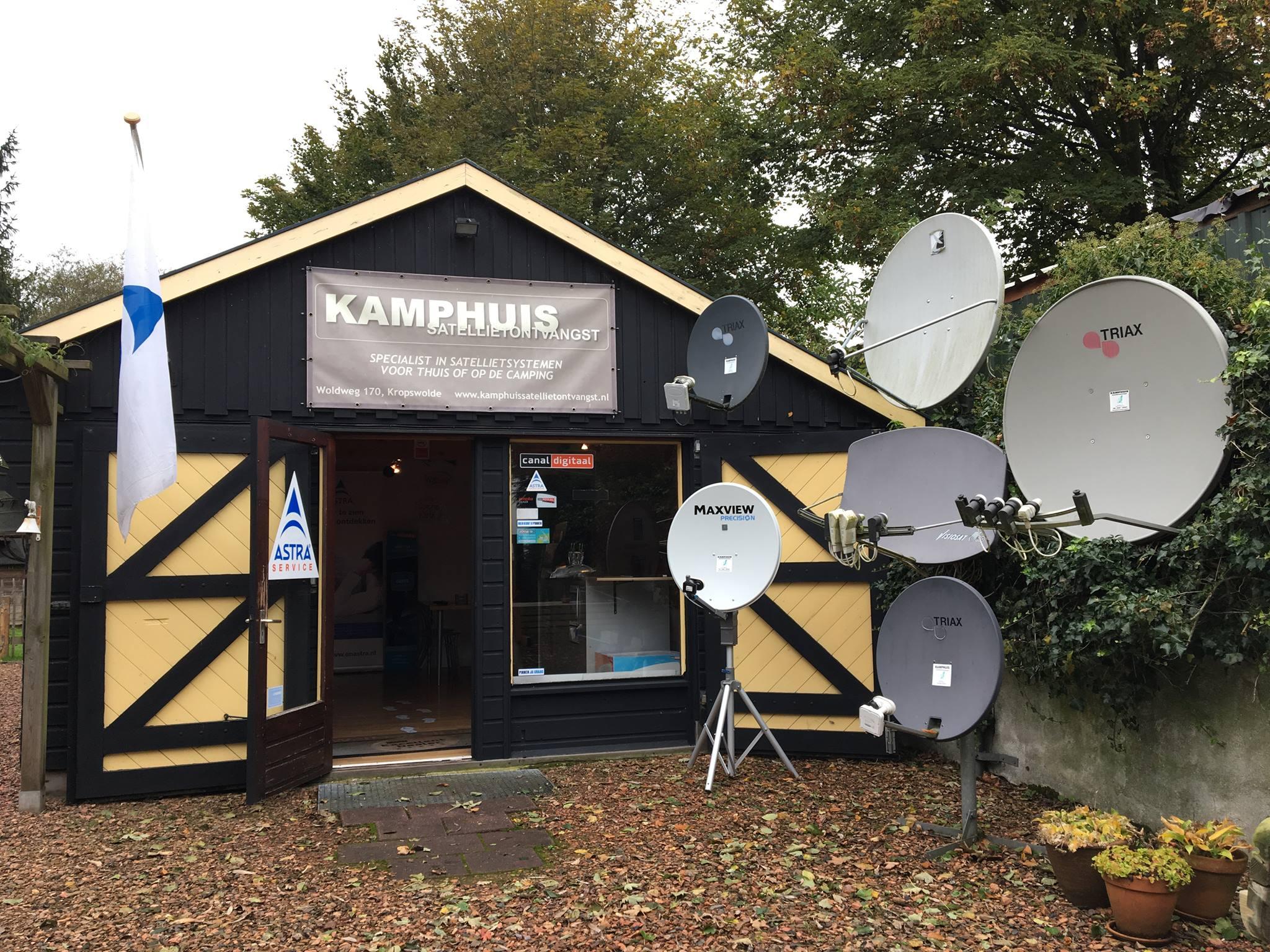 Kamphuis satellietontvangst - Keukenplan op de eetkamer geopend ...